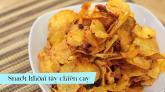 Thử làm bim bim khoai tây chiên cay ngon khó cưỡng