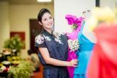Hoa hậu Ngọc Hân tôn vinh lụa Việt tại Đà Lạt