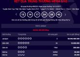 Kết quả xổ số Vietlott Mega 6/45 ngày 15/12: Jackpot chạy đua lên 59 tỷ đồng