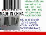 Mã vạch sản phẩm-mấu chốt cơ bản nhận biết hàng hóa các nước