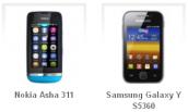 Giúp bạn chọn mua giữa Nokia Asha 311 và Galaxy Y S5310