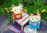 May túi đựng điện thoại hình gấu con cực cute