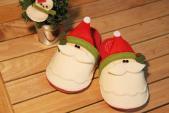 Tự may dép ông già Noel đi trong nhà cực xinh!