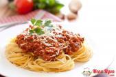 Tự làm Spaghetti sốt thịt bò băm cực chuẩn