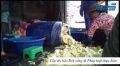 Làm măng cực bẩn tại một cơ sở sản xuất măng ngâm