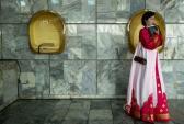 Thiếu nữ Triều Tiên rạng ngời trong trang phục truyền thống
