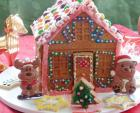 Bánh nhà gừng rực rỡ đón Giáng sinh