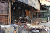 Chợ Cầu Diễn tan hoang sau đám cháy buổi đêm