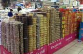 Thị trường thực phẩm tết bắt đầu vào mùa