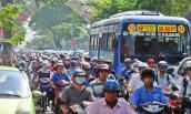 Thi công đường hoa Sài Gòn, xe cộ bị ùn tắc