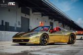 Chiêm ngưỡng siêu xe Ferrari 458 Spider bọc vàng độc đáo