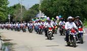 Hàng chục xe Exciter rước dâu hoành tráng ở Phan Rang