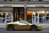 Siêu xe Lamborghini Avendator mạ vàng khiến cả Paris