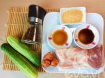 Thịt kho tiêu ăn cùng cơm cuộn siêu ngon