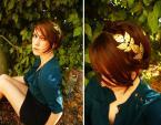 2 cách tự chế cài tóc lá ánh kim xinh xắn