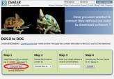 Đổi đuôi docx sang doc online