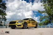 Mercedes-Benz CLS63 AMG bọc crôm màu vàng đẹp lung linh