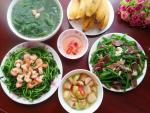 Bữa ăn ít thịt nhiều rau mà vẫn ngon