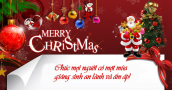 Lời chúc Giáng sinh hay và ý nghĩa nhất tặng người thân Noel 2014