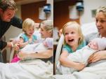 Khoảnh khắc ngọt ngào khi gặp em bé của các nhóc tỳ