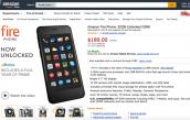 Smartphone của Amazon giảm giá còn 189 USD