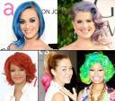Những mái tóc cầu vồng bảy sắc ở Hollywood
