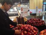 Hà Nội: Táo Mỹ vẫn được bày bán tại nhiều siêu thị