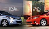 Đọ thiết kế ấn tượng của sedan nhỏ gọn Huyndai Elantra và Toyota Corolla