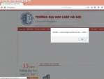 Website Đại học Luật bị tấn công bởi hacker tự xưng đến từ Trung Quốc