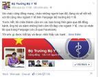 Bộ trưởng Bộ Y tế trả lời người dân qua Facebook