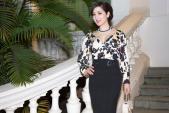 Hoa hậu Giáng My diện váy hàng hiệu gợi cảm