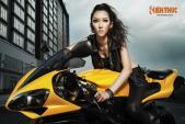 Mẫu Việt hút hồn bikers khi sánh đôi cùng superbike YZF-R1
