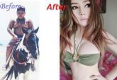 Lộ ảnh trước chuyển giới gây sốc của hot girl Thái