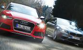 """Audi RS6 """"đối đầu"""" BMW M5 trên đường băng"""