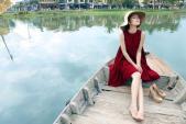 Dương Cẩm Lynh đẹp mê hoặc với váy đỏ