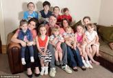 Hình ảnh gây chóng mặt về gia đình 18 đứa con lít nhít
