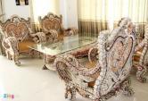 Bộ bàn ghế ốp vỏ ốc 5 tỷ đồng của đại gia miền Tây