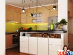3 thiết kế tủ bếp ấn tượng cho phòng bếp nhỏ