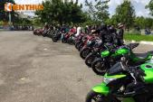 Hàng chục chiếc Kawasaki Z1000 lăn bánh về miền Tây