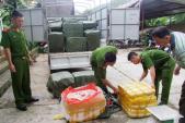 Phát hiện 1,2 tấn nầm lợn mốc nhập lậu từ biên giới