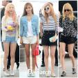 Các cô gái xinh đẹp SNSD biến sân bay thành sàn diễn thời trang