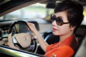 Maybach S500 màu độc của nữ doanh nhân Hà Thành