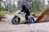 Ngạc nhiên xem sportbike Ducati 1199 Panigale off-road