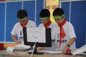 700 học sinh dự lễ phát động cuộc thi giải toán trên Internet miền Bắc