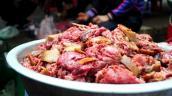 Rựa mận thịt chó thơm ngon cho bữa cơm tối
