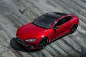 """Tesla Model S độ """"full đỏ, đen"""" cực độc của Vilner"""