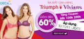 Chọn nội y - nhận coupon 200.000đ mừng Triumph Vivian's ra mắt tại Deca