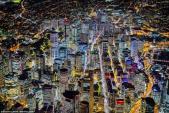 Ngắm các thành phố lớn rực ánh đèn từ độ cao 2.000 m