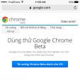 Cách trải nghiệm sớm các tính năng mới của Chrome trên iOS