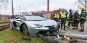 """""""Siêu bò"""" Lamborghini Aventador Roadster tử nạn tại Estonia"""